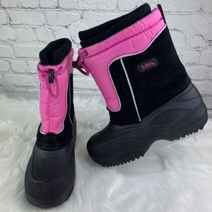 Totes Jeanie Black/Pink Winter Snow Boots Size 6